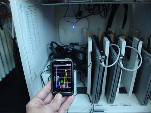 7 verschiedene WLAN-Accesspoints können empfangen werden